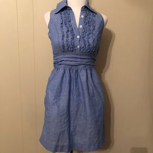 Lilly Pulitzer Blue Ruffle Front Dress